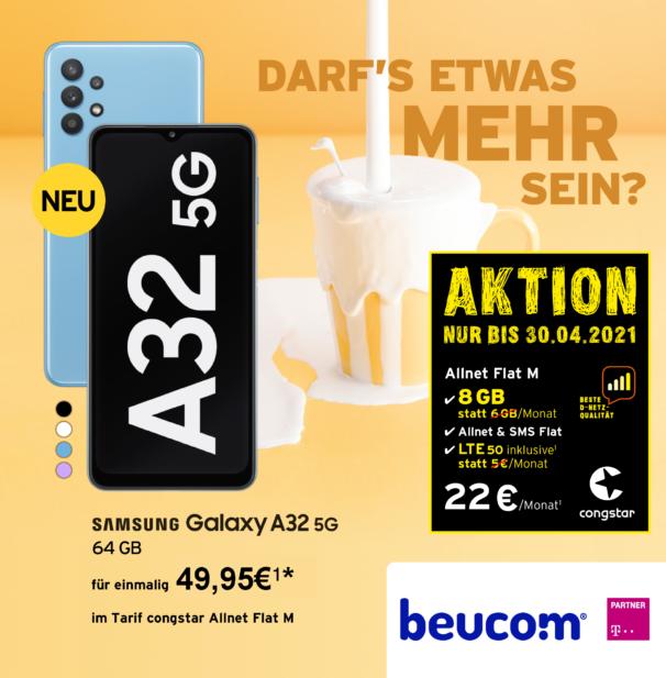 Samsung A32 mit Allnet Flat M congstar
